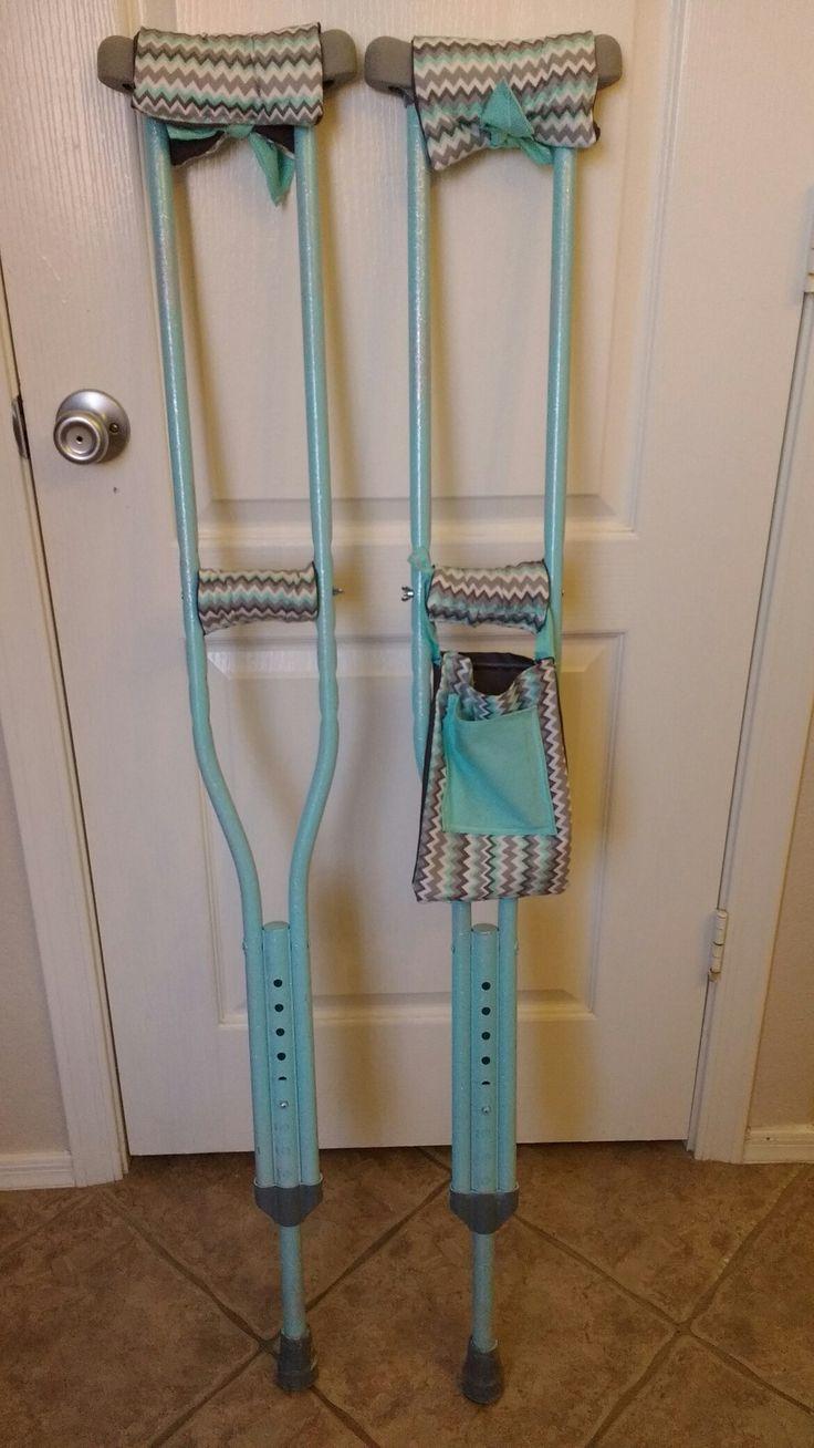 Crutch cushions, bag and bling