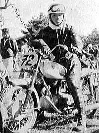 250 優勝のライラックの伊藤史朗  1955浅間高原レース