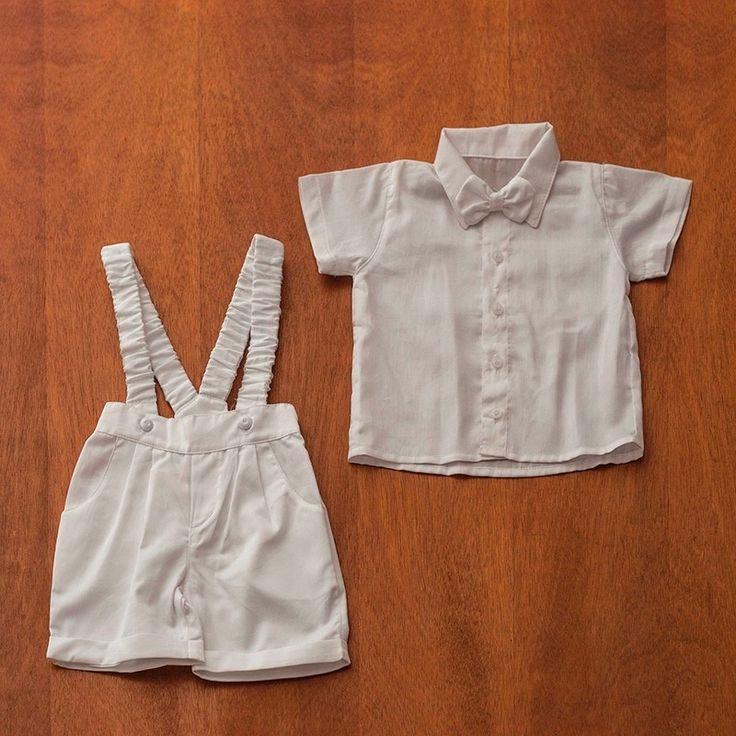 Conjunto Infantil Masculino Para Batizado Branco - R$ 107,00 no MercadoLivre