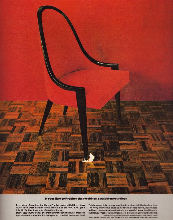Harvey Probber U2013 U0027If Your Harvey Probber Chair Wobbles, Straighten Your  Flooru0027