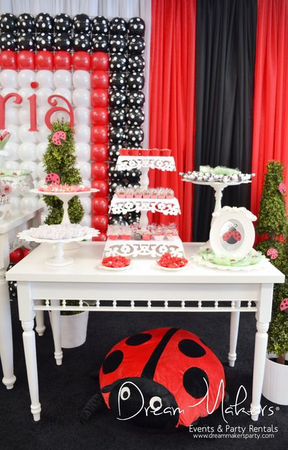Amazing Ladybug Birthday Party!   See more party ideas at CatchMyParty.com!  #partyideas #ladybug