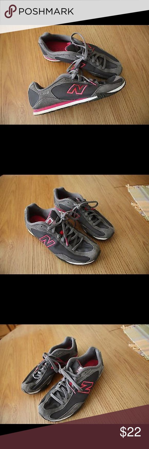Women's New Balance 442 Walking Shoes Size 8.5 B Pre-Owned Women's New Balance 442 Walking Shoes Size USA 8.5 B / EUR 40 Sn: WL442CD. See photos for details.  Like-new condition Low-profile silhouette retro sneaker Rubber soles Style:  WL442CD New Balance Shoes Athletic Shoes