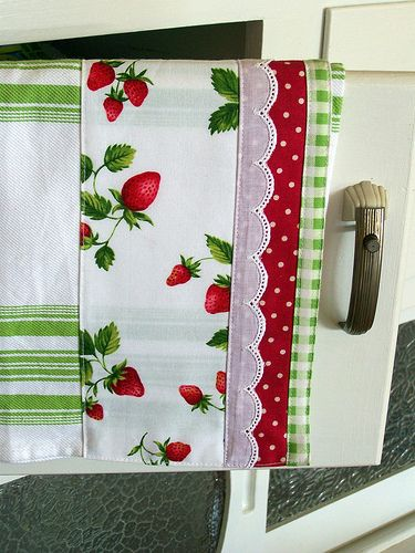 Strawberry kitchen tea towel.