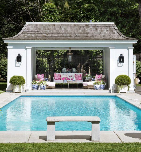 78 Cozy Swimming Pool Garden Design Ideas On A Budget Decorhit Com In 2021 Pool House Designs Pool Gazebo Swimming Pools Backyard