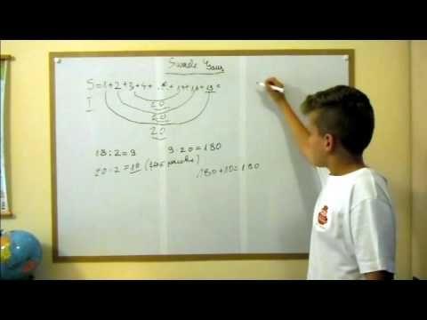 Sume Gauss  pt clasa a V a - episodul 1 - YouTube