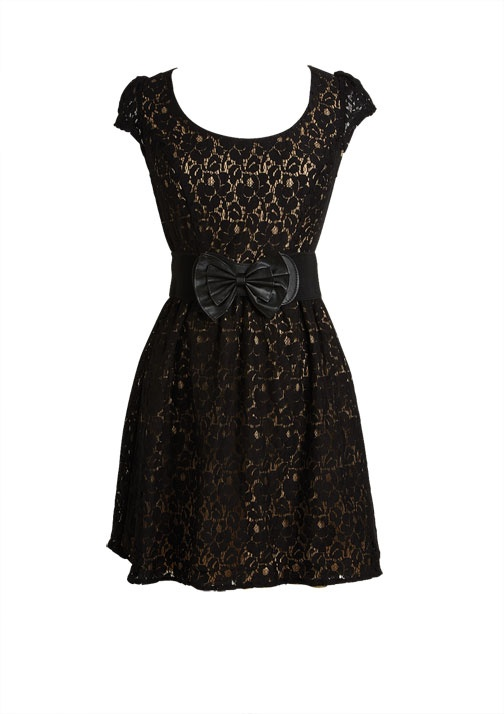 dELiAs > Lace Doll Dress   Love the lace with that belt!