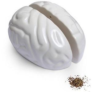 Brain salt and pepper shaker at Think Geek = $9.99: Salt Pepper Shakers, Incredible Things, Pepper Brain, Cerebral Salt, Salts, Brain Salt, Brains, Misc, Collect Salt