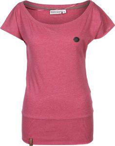 Een fruitig, framboos kleurige shirt komt hier straight uit Essen: de Naketano Wolle VII T-Shirt. Dat schattige ding komt met rechte, luchtige sectie en grote band aan zoom, zodat het jou een super leuke look geeft. Dat gehele wordt dan nog van de schattige logo-applicatie van Naketano en de breed uitgesneden kragen vet gepimpt. - los gesneden T-Shrit- breed uitgesneden, ronde kragen - grote geribbelde band aan zoom - vele, kleine logo details (o.a. van kunstleer)