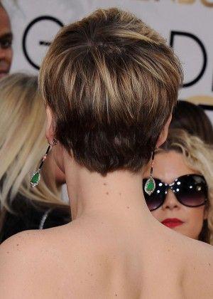 Jennifer Lawrence back short hair
