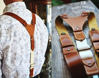 SALE! Personalized leather suspenders Mens leather suspenders Wedding suspenders Mens braces Thanksgiving gift Groomsmen gift Christmas gift