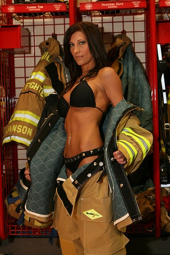 hot sexy firefighter ladis