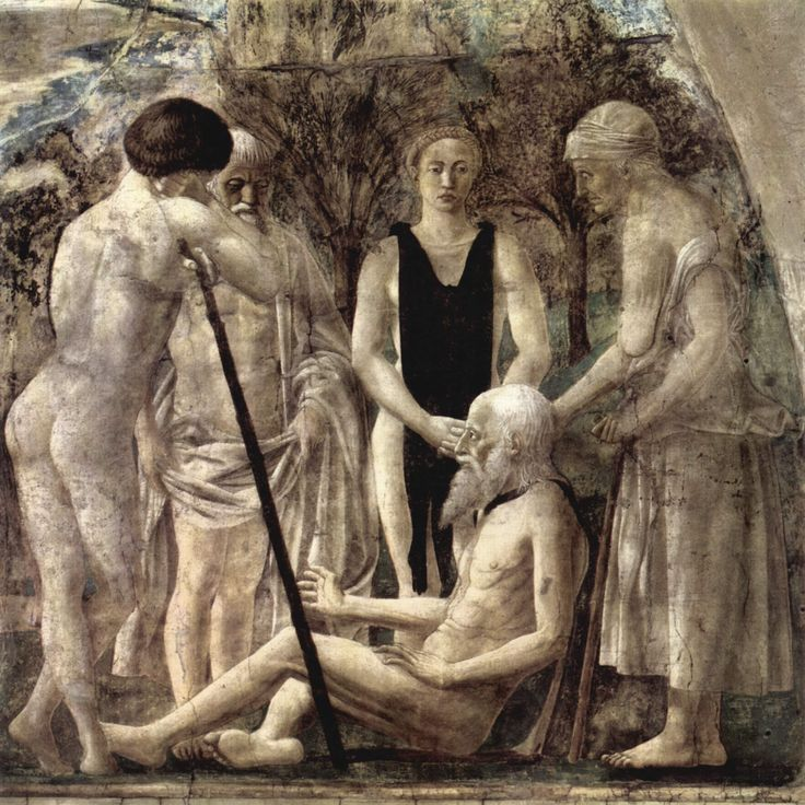 Piero della Francesca Death of Adam,1452-1458 fresco San Francesco, Arezzo