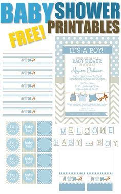 "FREE Baby Boy Shower Printables - LOVE the ones that DON'T say ""honor the Mom"" - want to honor the baby! :)"