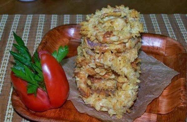 Δαχτυλίδια κρεμμυδιών στο φούρνο | Olga'scuisine.gr