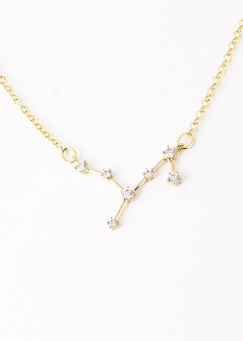 Virgo Constellation Zodiac Necklace (08/23-09/23) - As seen in Real Si - My Jewel Candy