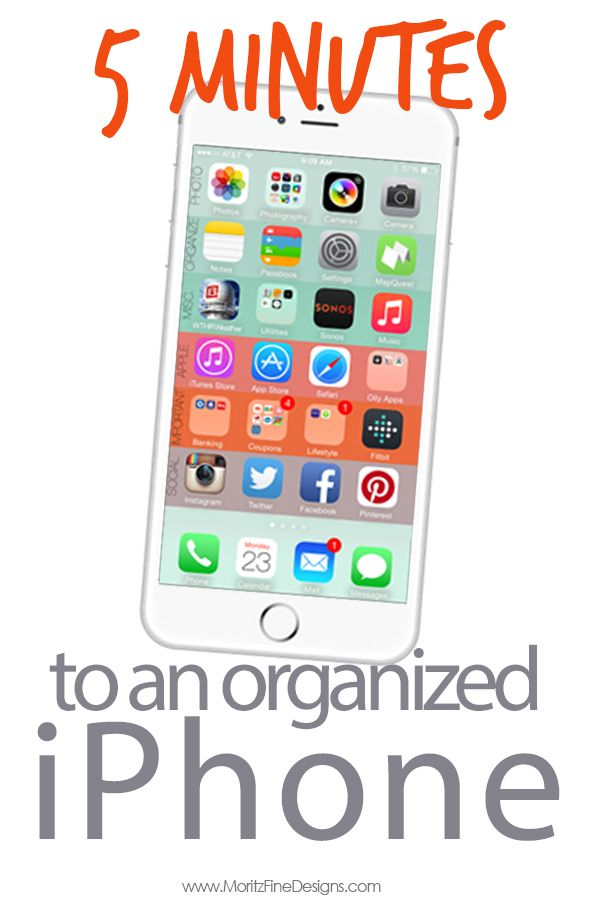 How To Organize Your Iphone In 5 Minutes Or Less Iphone Iphone