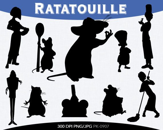 Ratatouille Instant Download Silhouette By