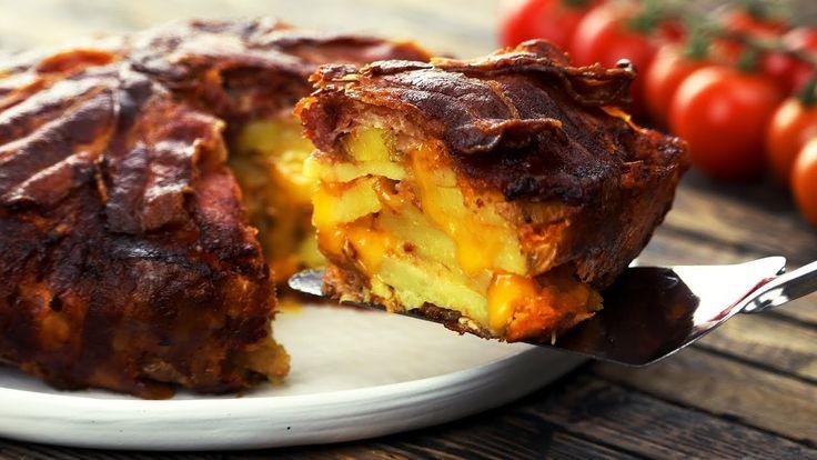 Nichts für den kleinen Hunger: Kartoffel-Bacon-Tarte im Knuspermantel.