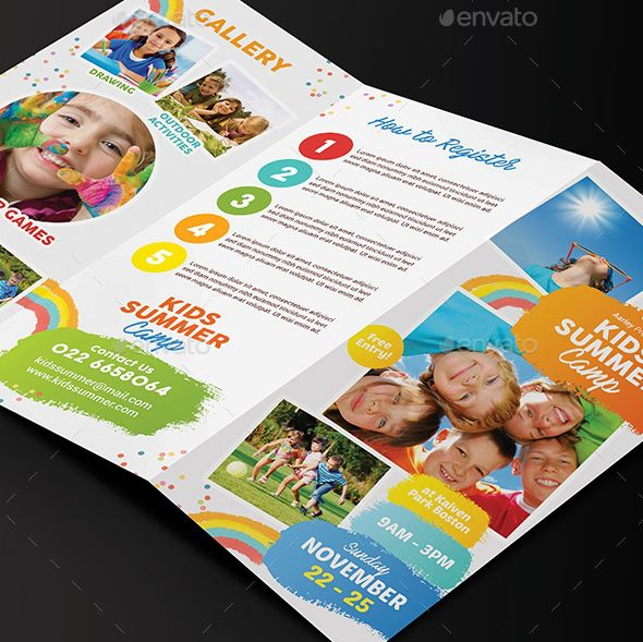 2. Kids Summer Camp Trifold