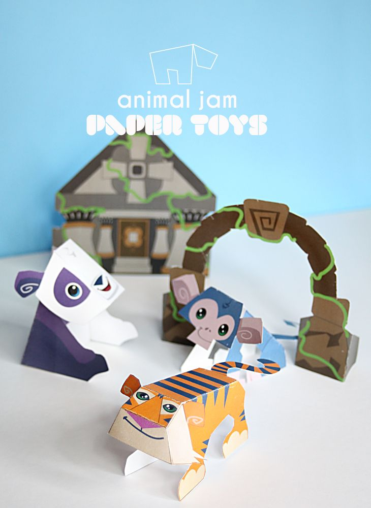 Animal Jam National Geographic Kids – Lost Temple of Zios Free Printable Paper Toys for Kids - and 2 other Animal Jam Printable lands in the links!