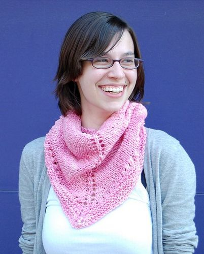 Petal shawlette- free pattern on loopyarn.com - I made this in purple manos cotton stria and gave it to my friend.
