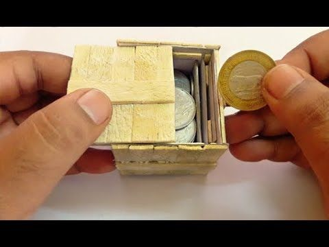 Homemade Cardboard Puzzle Box With Secret Lock DIY | Popsicle or Ice Cream Stick Puzzle Box - YouTube