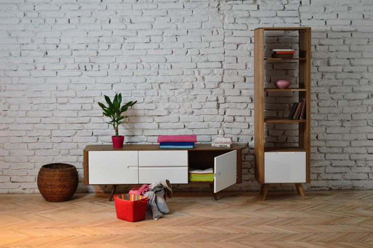Ena Sideboard and Ena Shelf