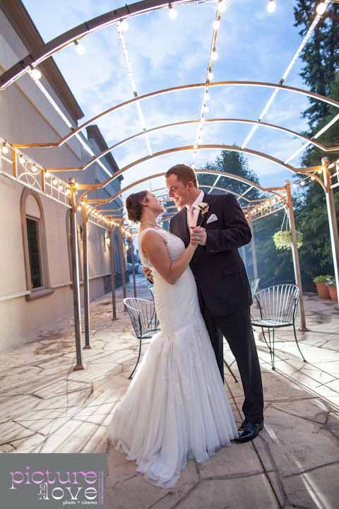 Dancing under the pergola. Columbus Ohio Wedding Reception Venues | #Brookshireweddings
