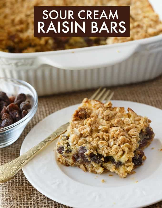 Sour Cream Raisin Bars Recipe Dessert Recipes Desserts Dessert Recipes Easy