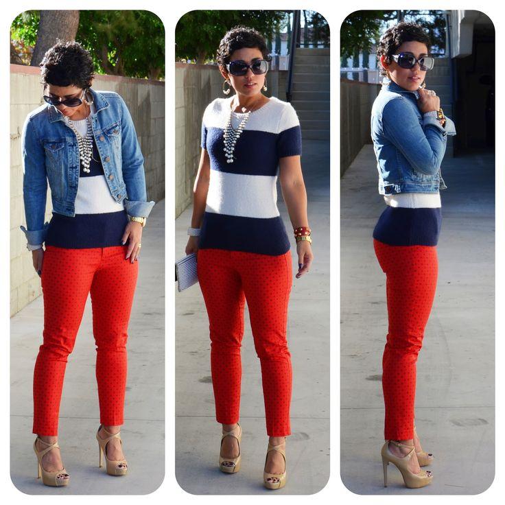 Combinacion con pantalon rojo