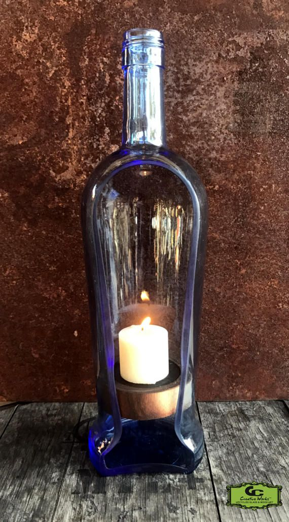 Sanctuary Liquor Bottle Candle Holder Item GCSNCTRYLBCH
