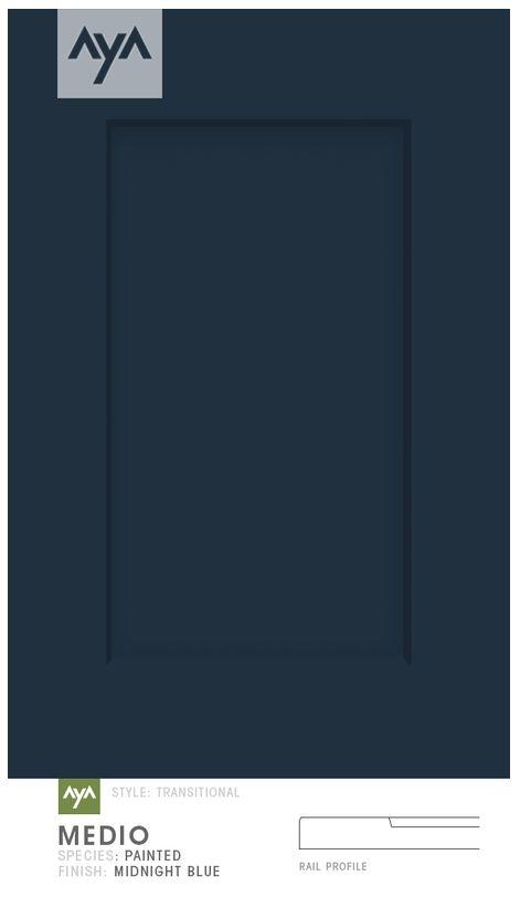 AyA Kitchens - Medio Midnight Blue painted door.