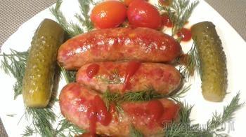 Домашние колбаски по мотивам молдавской кухни- Кырнэцеи