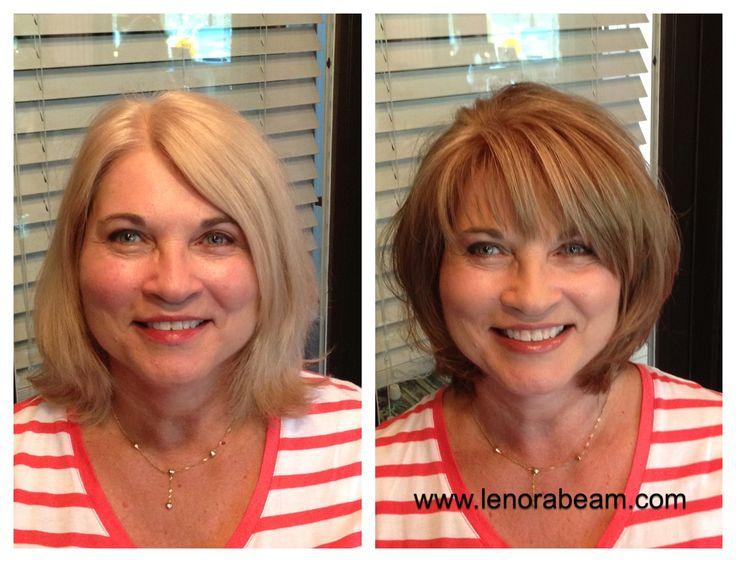 Before And After Hair Color And Cut Makeover Light