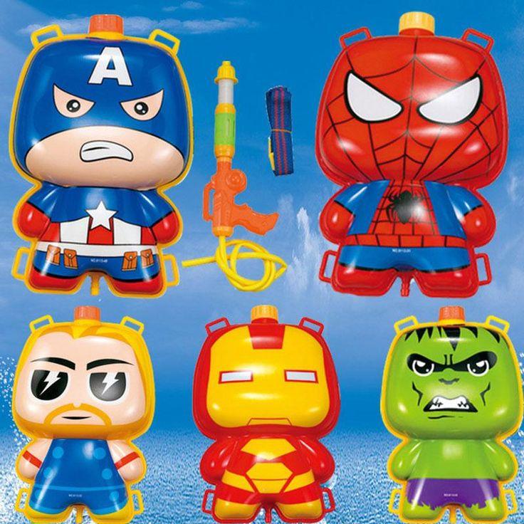 Spider-man Iron Man Batman American Capital Paintball Backpack Water Gun Toys Orbeez Gun Beach Toys