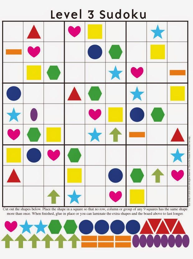 Kid Giddy aka Kerry Goulder: Sewing Patterns, Crafts, DIY, Photography, Recipes and more: More Sudoku Puzzles