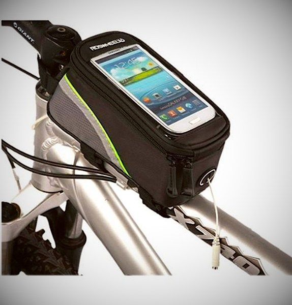 Keep your smartphone and other stuff on your bike frame with this touchscreen bag.  $5.38 Buy | Read more