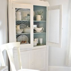 Wire Cabinet In Diningroom