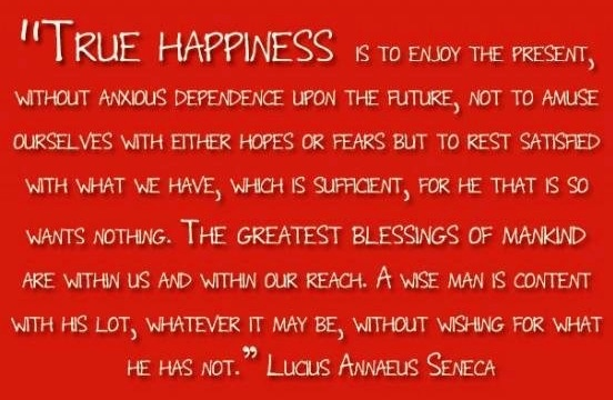 True happiness quote via Carol's Country Sunshine on Facebook