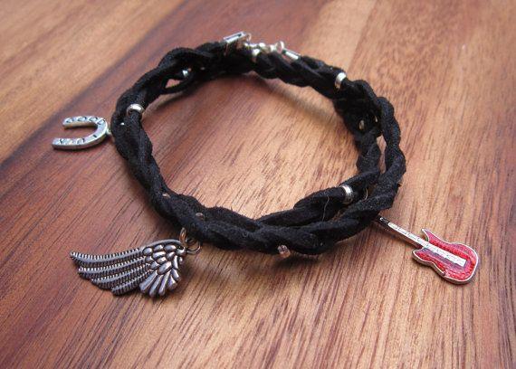 Men's Bracelet Guitar Gift Wrap Bracelet by BloomHandmadeUK