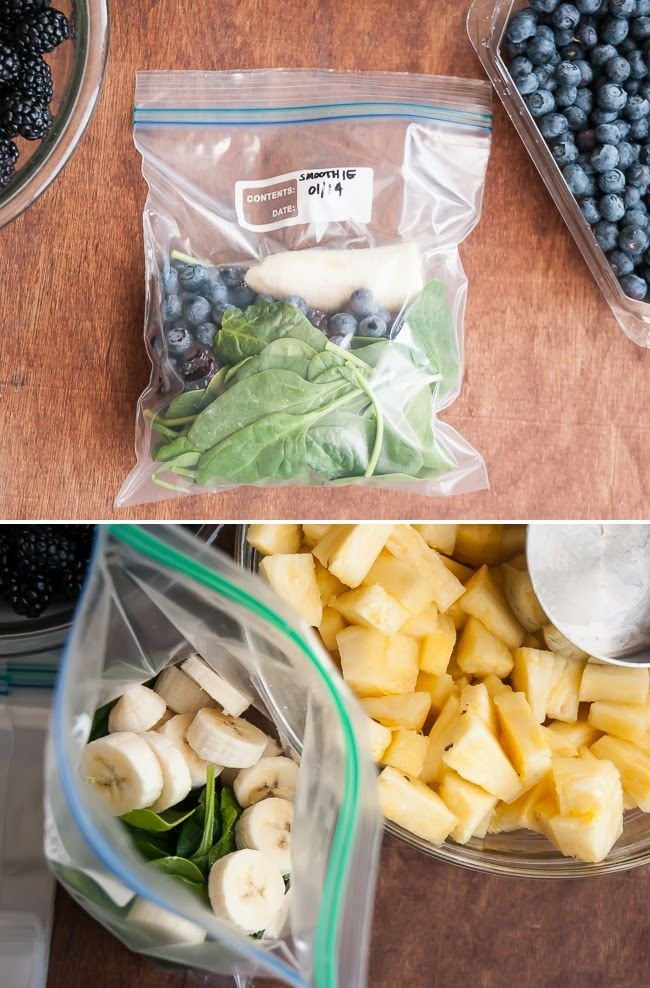 Make a Month of Green Smoothies in One Hour.  Clean eating.  Wholesome foods.  Quick breakfast or snacks.