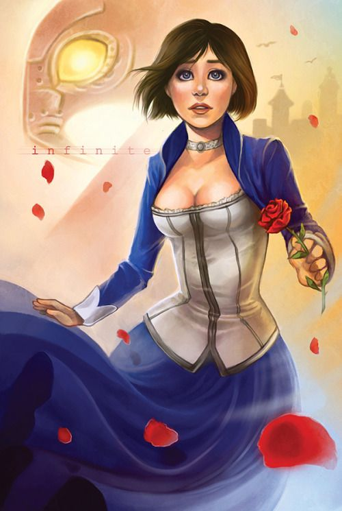 """daniellesylvan:  """" Fan art for the new Bioshock Infinite game! Love Elizabeth's character design. You can purchase prints through my online store !  """"  Reblogging because I made a few edits :)"""