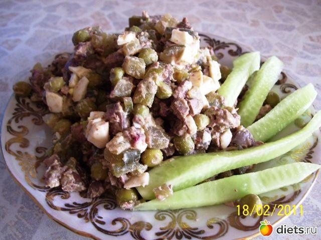 Салат из печени 'Экспромт'