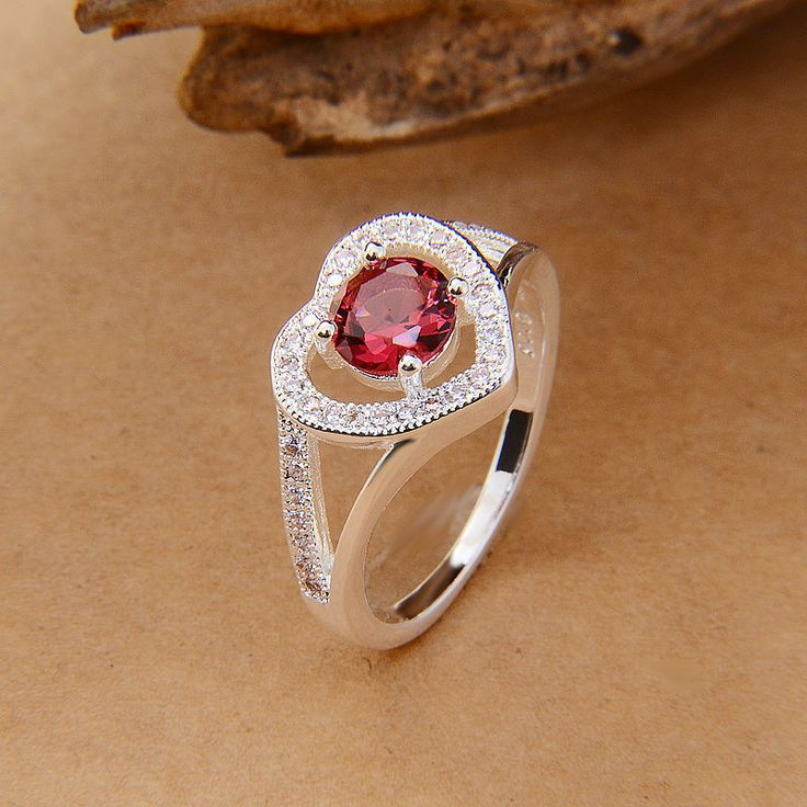 love silver plated rings for lover women heart design jewelry paved Czech diamond free shipping new wedding band love ring