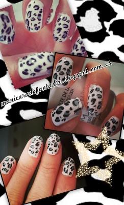 Animal print Manicura de Leopardo