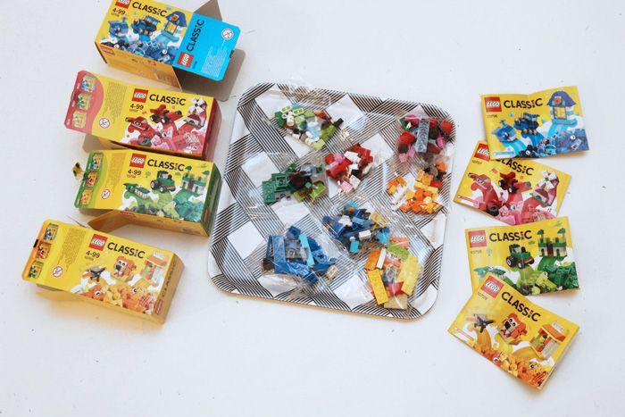 Lego-pussukat pienille synttärivieraille