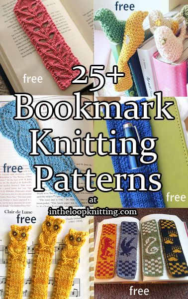 Knitting Patterns for Bookmarks. Most patterns are free
