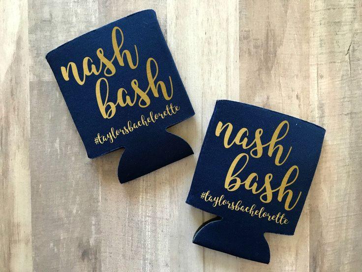 Nash Bash Can Cooler, Nashville Bachelorette, Nashville Bachelorette Party, Bridal Party Favors, Bachelorette, Nash Bash, Nashville Party by AbbyJaxBeauxtique on Etsy https://www.etsy.com/listing/531102227/nash-bash-can-cooler-nashville