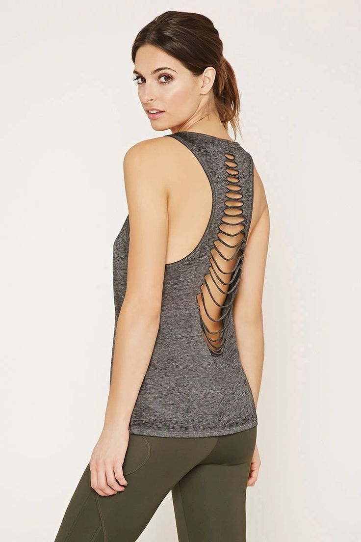 Active Cutout-Back Tank #f21active
