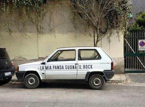 #panda #fiat #auto #car #rock #street #funny